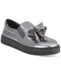Nine West Position Embellished Flat Sneakers Women's Shoes Pewter Patent