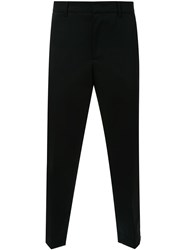Juun.J Zipper Detail Tailored Trousers Black