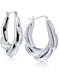 Giani Bernini Scalloped Design Hoop Earrings In Sterling Silver Only At Macy's
