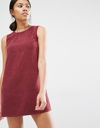 Love Suede Shift Dress Wine Red