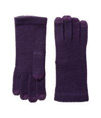 Echo Picot Touch Gloves Black Plum Extreme Cold Weather Gloves Purple
