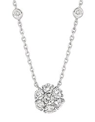 Morris And David 14Kt White Gold Diamond Necklace Silver
