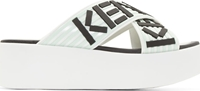 Kenzo White Platform Shower Shoe Sandals
