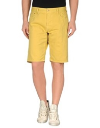 Uniform Denim Bermudas Ocher