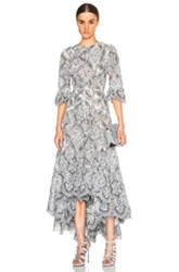 Zimmermann Empire Embroidered Dress In White