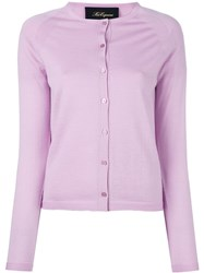 Les Copains Classic Twin Set Cardigan Pink And Purple