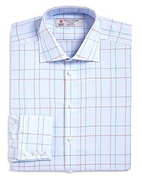 Turnbull And Asser Windowpane Classic Fit Dress Shirt Bloomingdale's Exclusive Blue Red Pink