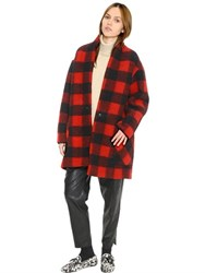 Etoile Isabel Marant Checked Boiled Wool Blend Coat