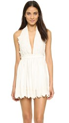 Loveshackfancy Halter Mini Dress Vanilla