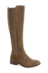 Jessica Simpson Women's 'Ricel' Riding Boot Olive Taupe Suede