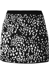 Haute Hippie Sequin Embellished Silk Mini Skirt Black