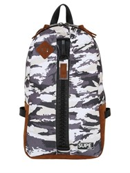 Supe Design Camouflage Day Nylon Bag W Zip