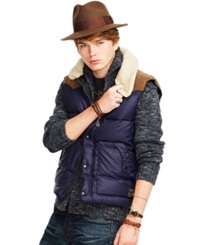 Denim And Supply Ralph Lauren Ripstop Down Vest Navy Multi