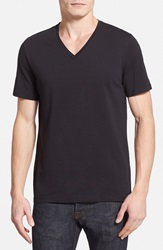 Hugo 'Dredosos' V Neck T Shirt Black