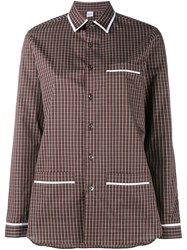 Marie Marot 'Kate' Checked Shirt Red