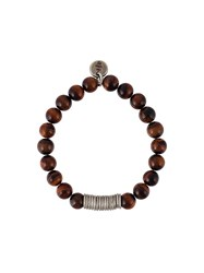 Eleventy Small Pendant Bracelet Brown