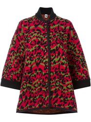 M Missoni Animal Intarsia Coat Multicolour