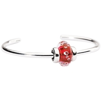 Trollbeads Sterling Silver Sparkling Bangle Pink