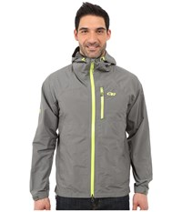 Outdoor Research Foray Jacket Pewter Lemongrass Men's Coat Gray
