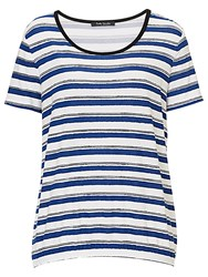Betty Barclay Striped Top Navy White