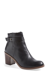Halogen 'Glenna' Leather Ankle Bootie Women Black