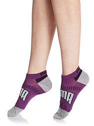 Puma Low Cut Logo Socks 3 Pack Purple