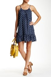 Soprano Woven Cami Peplum Shift Dress Blue
