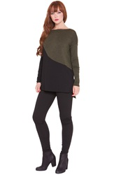 Olian 'Joey' Colorblock Maternity Tunic Black