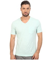 Original Penguin Bing V Neck Soothing Sea Men's T Shirt Blue