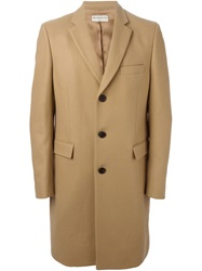 Melindagloss Single Breasted Overcoat Nude And Neutrals