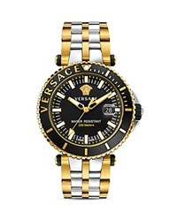 Versace Two Tone V Race Diver Watch 46Mm Black Gold