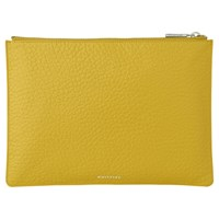 Whistles Bubble Leather Medium Clutch Bag Yellow