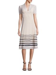 Tommy Hilfiger Collection Silk Embellished A Line Dress Seedpearl
