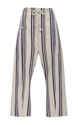 Joseph Ombria Cropped Pant Stripe