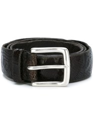 Orciani Cracked Snakeskin Effect Belt Brown