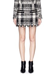 Alexander Wang Check Plaid Chain Link Mini Skirt Multi Colour
