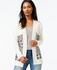 Maison Jules Open Front Fair Isle Cardigan Only At Macy's