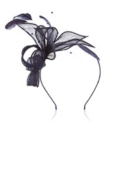 Coast Pearl Bead Fascinator Navy