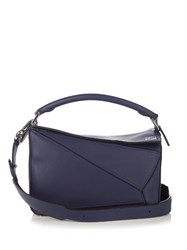 Loewe Puzzle Small Leather Cross Body Bag Blue