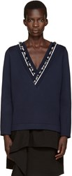 Mother Of Pearl Navy Embellished Georgia Pullover