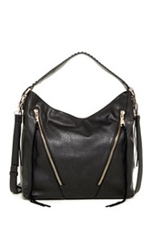 Urban Expressions Avery Slouch Zip Shoulder Bag Black