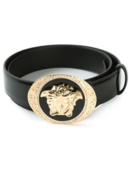 Versace Medusa Buckle Belt Black