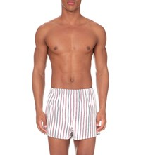 Derek Rose Milly Cotton Modern Fit Boxer Shorts Pink