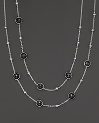 Ippolita Sterling Silver Rock Candy Mini Lollipop And Ball Necklace In Black Onyx Silver Black