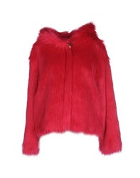Beayukmui Coats And Jackets Faux Furs Women Fuchsia
