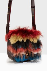Paula Cademartori Stripe Fur Medium Cross Body Multi
