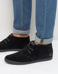 Fred Perry Byron Mid Suede Trainers Black