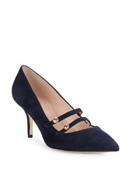 Kate Spade Jessica Suede High Heels Navy Blue
