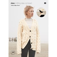 Rico Fashion Alpaca Dream Women's Hat And Jumper Knitting Pattern 501