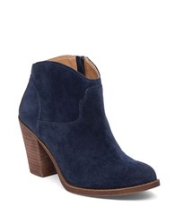 Lucky Brand Eller Leather Ankle Length Booties Blue